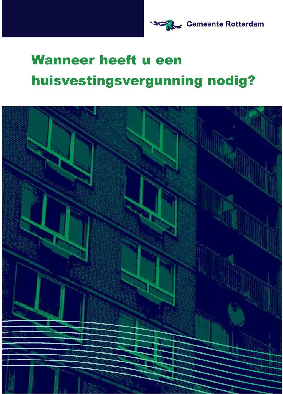 Huisvestingsvergunning Rotterdam